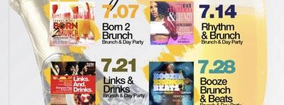 Sunday 2hr Open Bar Brunch & Day Party, Bdays Celebrate Free, Live Music
