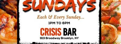 Brunchaholic Seafood Sundays at Crisis Bar with dj Tra$e
