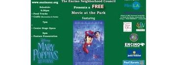 Encino Neighborhood Council - Movie at the Park - Mary Poppins Returns